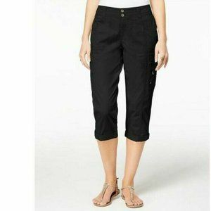 Style & Co Cropped Cargo Pants Utility Pockets